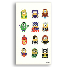 Cute Cartoon color Tattoo Stickers Water Transfer Fake tattoo Disposable Waterproof Temporary Stickers Child Children Kids
