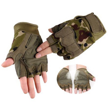 1 Pair Tactical Sports Fitness Weight Lifting Gym Gloves Training bodybuilding Workout Wrist Wrap Exercise Glove for Men