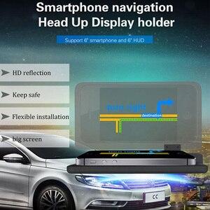 Image 4 - Cabeça up display gps navegação carro traço montar titular do telefone celular filme reflexivo, veículo hud smartphone suporte de montagem para iphone