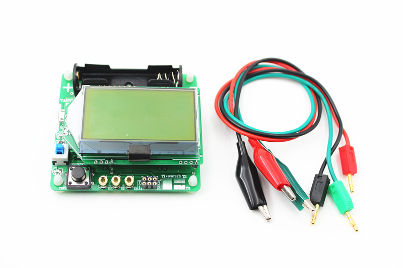 2015 newest version of inductor-capacitor ESR meter DIY MG328 multifunction transistor tester