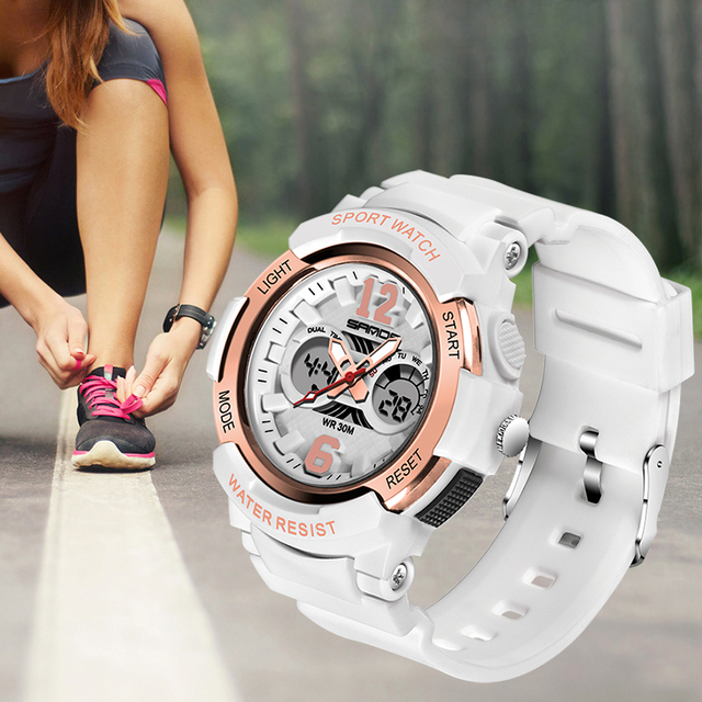 White Waterproof Jelly Sports Watches