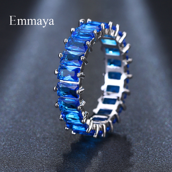 EMMAYA Silver Color Unique Design CZ Ring Paved Austrian Zircon Fashion Women Ring Jewelry 2