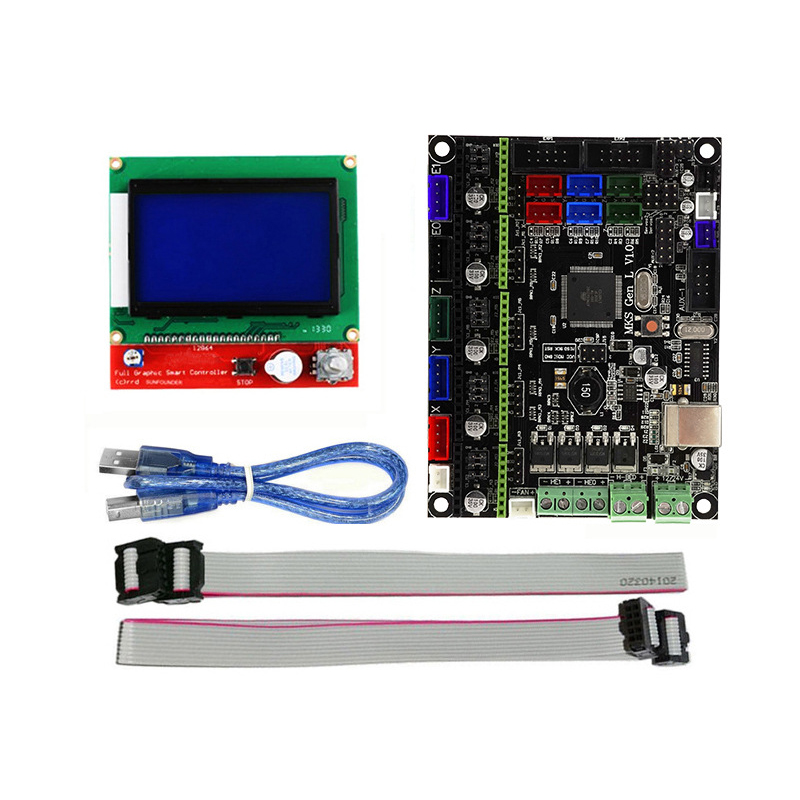 3D Printer Accessories MKS GEN L Motherboard +12864LCD Display Open Source Firmware Marlin 3d printer main control panel sbase v1 3 open source firmware 32 motherboard