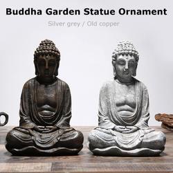 Escultura Estátua de Buddha Shakya Mani Ouro/Prata Antique Home Decor Ornamento Feng Shui estátua de Buda Meditando