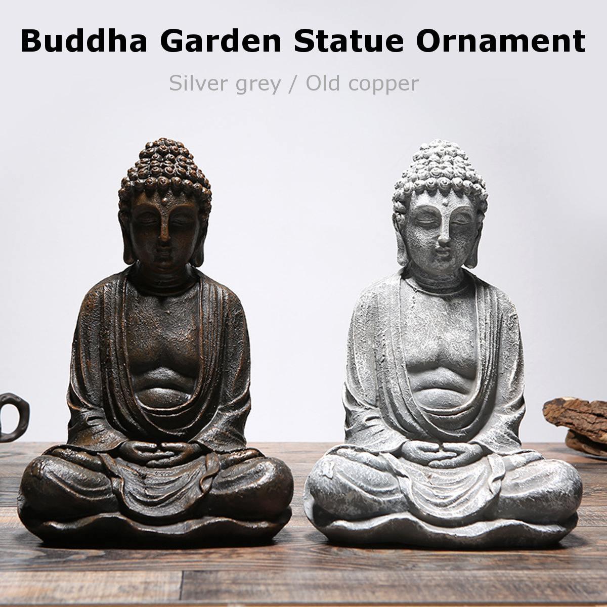Shakya Mani Buddha Statue Sculpture Gold/Silver Meditating Antique Home Decor Ornament Feng Shui Buddha Statue