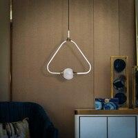 Современный стеклянный абажур из кованого железа подвесной светильник персональная гостиная столовая спальня кухня подвесной светильник