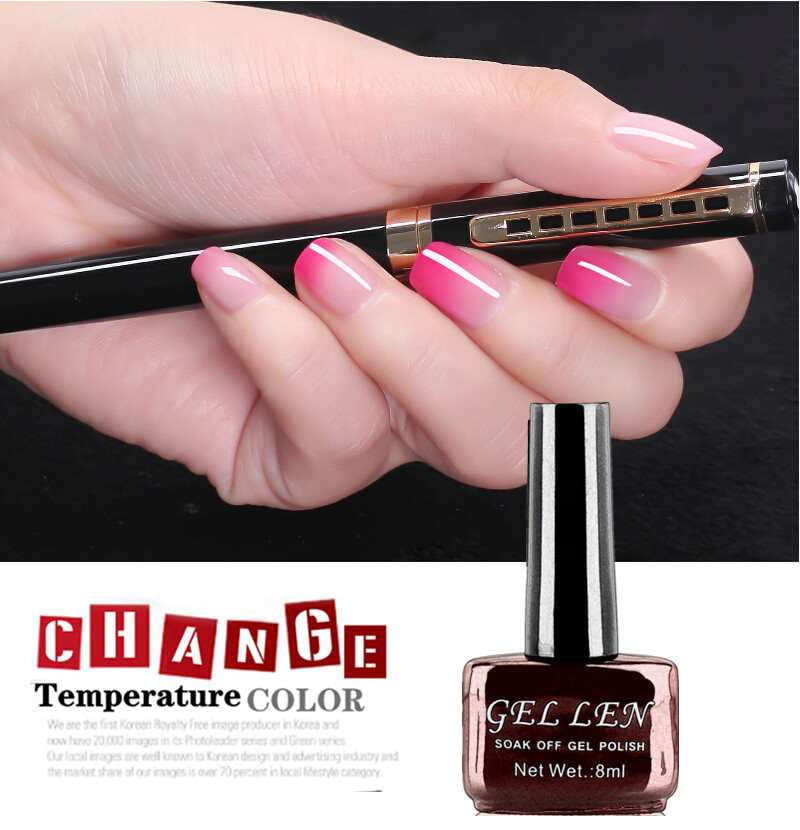 Gel Len Temperature color changing gel nail polish 60 colors French ...