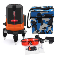 GOXAWEE 5 Laser Line 6 Points 360 Degree Laser Level Construction Building Tools Vertical Horizontal Rotary