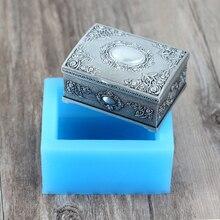 Силиконовая форма для мыла, 3D форма подарочной коробки, ручная работа, форма для шоколада, конфет, ремесло, смола, глина, инструмент для украшения