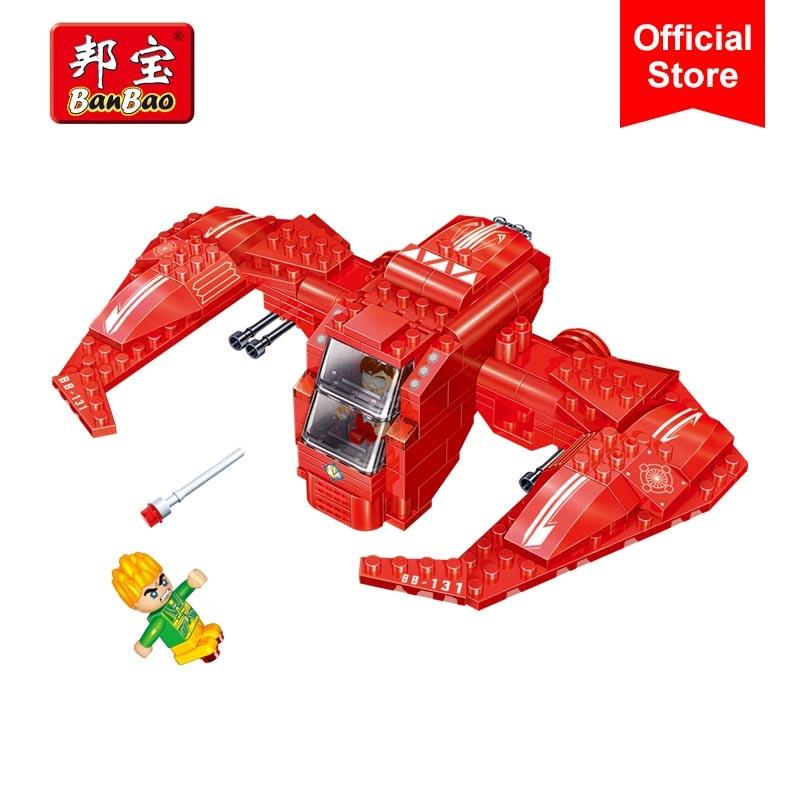 Banbao 6411 авиации линкор космический корабль с легким кирпичи образовательные блоки модели здания игрушка для Для детей друг ...