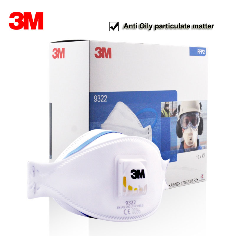 3M 9322 9332 Dust Mask Particulate Respirator Safety Breathing Masks Anti-fog PM2.5 Dust-proof Protective Mask FFP2 FFP3 Level