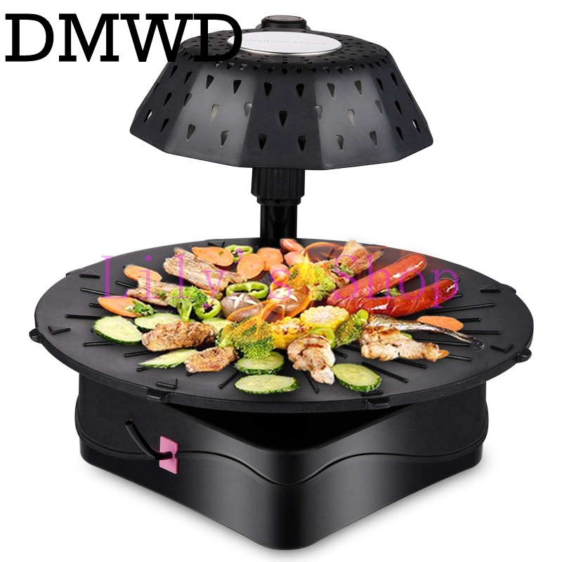 Korean household electric ovens smokeless barbecue grill commercial electric hotplate large skewers sizzling grill kebab machine