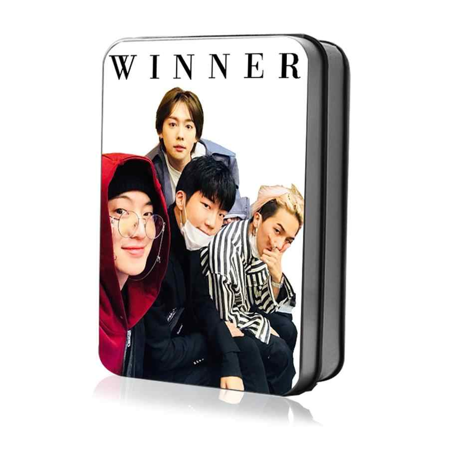 Kpop WINNER Polaroid Lomo Photo Card New Album Collective HD Photocard Poster with Metal Box 40pcs