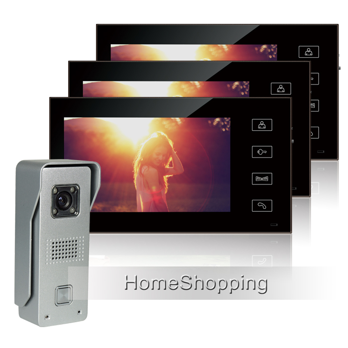 FREE SHIPPING Wired 7 Color Touch Screen Video font b Door b font phone Intercom Entry