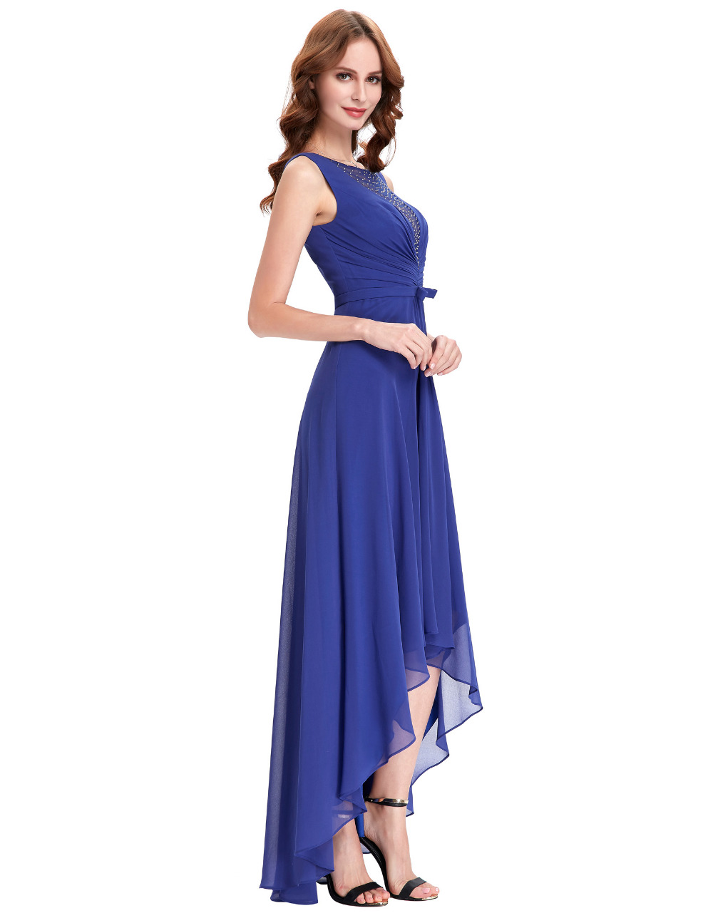 High Low Bridesmaid Dresses Royal Blue Wedding Guest Dress Formal