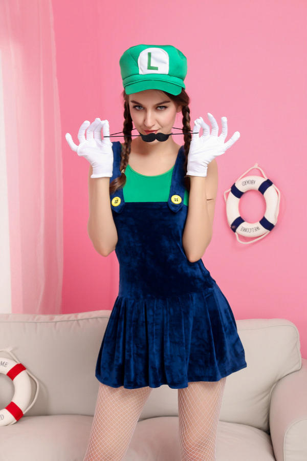 Ensen Hot Kids Super Mario Bros font b Cosplay b font Costume Set Party MARIO DressHalloween