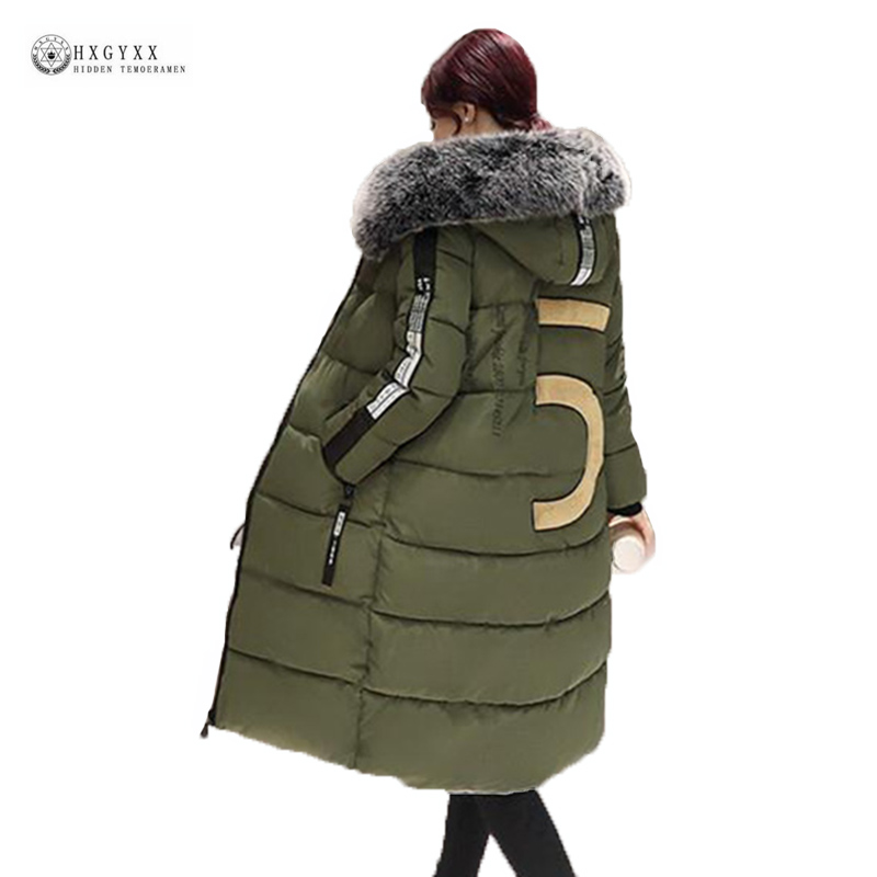 New Winter Coat Women 2017 Thick Warm Winter Jackets Female Fur Collar Hooded X-Long Parka Coat Plus Size 6XL Outerwear OK922 2017 winter new clothes to overcome the coat of women in the long reed rabbit hair fur fur coat fox raccoon fur collar