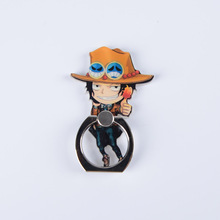 One Piece Luffy Straw Hat Metal Finger Ring Phone Stand Holder