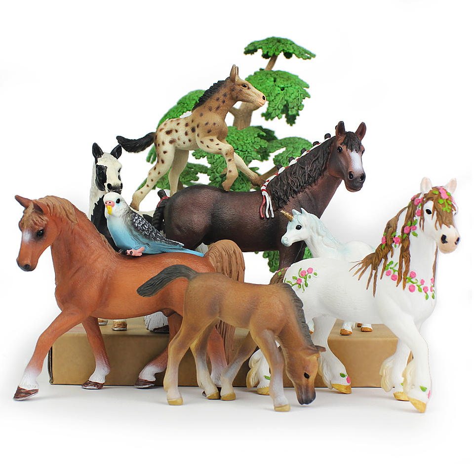 farm animal set 12pc in box horse pig duck cow chicken delicate min model animal toys boys favorite gift early education toys Original Wild Animal model Ranch horse Toy set in action Figures childrens Education Gifts Ornament