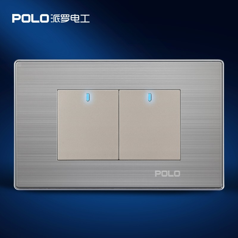 Wall Light Switches Us : Home Automation, POLO Luxury ( ^ ^)? Panel, Panel, US/AU standard, LED indicator, Wall ? switch ...
