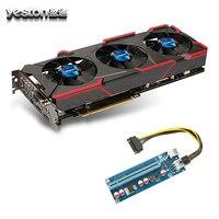 Yeston GeForce GTX 1080 Graphics Cards GPU 8GB GDDR5 256 Bit Graphics Cards Fan PCI E