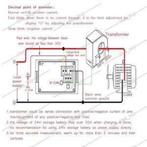 Image 4 - Dykb DC 0 ~ 600V 0 500A אולם מד מתח מד זרם תצוגה כפולה דיגיטלי LED מתח הנוכחי מד פריקת מטען סוללה צג