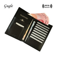 Rfid Shielded Sleeve Card Blocking Passport Cover Case Top Credit Card Holder Travel Wallet Card Protector