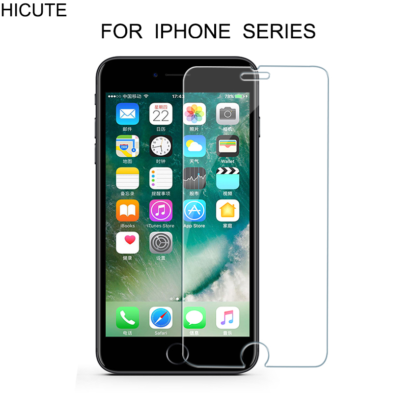 High Quality Tempered Glass For Iphone 6 6s Plus 7 Plus 5s 4 SE 8 Plus X Glass Iphone 7   X 8 Screen Protector Iphone 7 8 X Glas