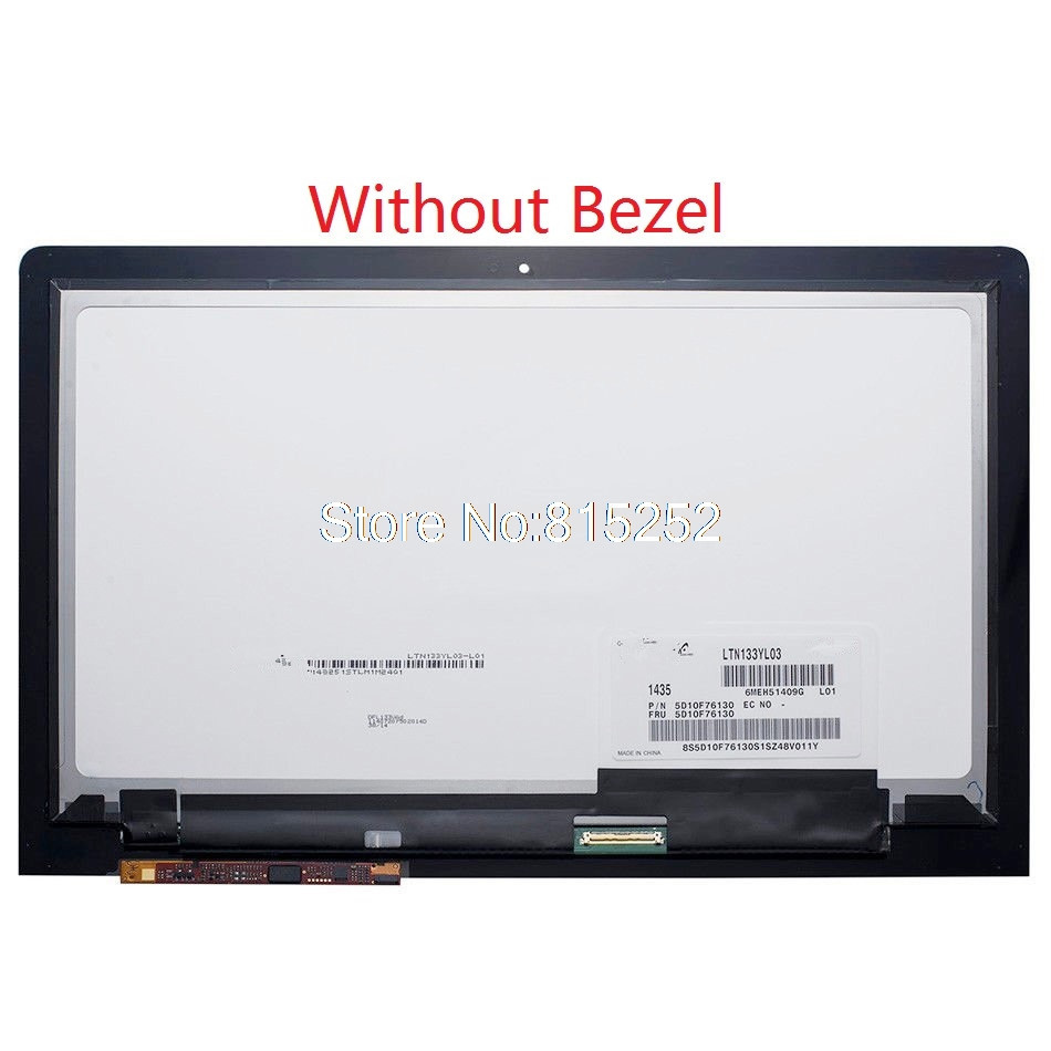 Laptop Touch Screen+LCD Display assembly For lenovo YOGA 3 Pro 1370 13.3' LTN133YL03-L01 5D10F76130 Digitizer 3200*1800 40pin free shipping new ltn133yl03 l01 laptop lcd led screen 13 3 notebook led display yoga 3 pro display screen