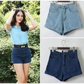 2017 summer new women high waist denim shorts high quality of cotton blends&denim shorts Plus size AA shorts