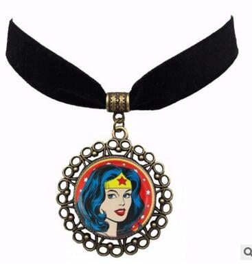 10pcs/lot Wonder Woman Necklace Adult Sterling Silver Stainless Steel Gold Toy For Girls Children Kids Gift Super Hero Pendant 100% High Quality Materials Action & Toy Figures