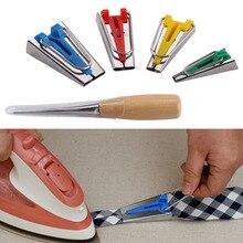 4pcs 6/12/18/25mm Fabric Bias Tape Maker Binding Tool Quilting Sewing + Awl