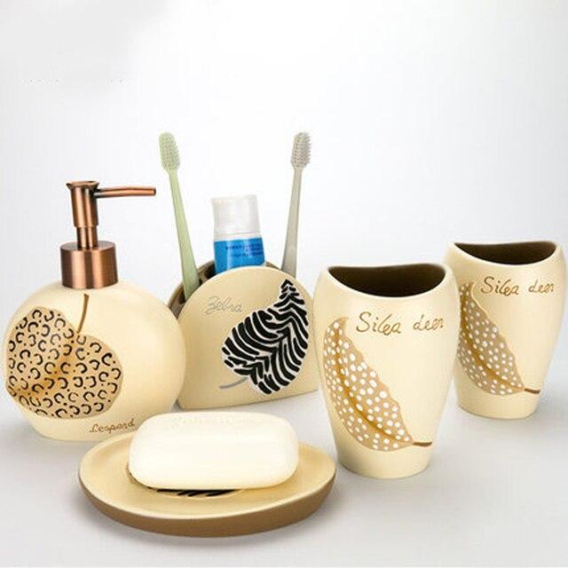 Relativ Kreative Kunst Harz 5 teile/satz Bad accessoires Set Europa Stil FM18