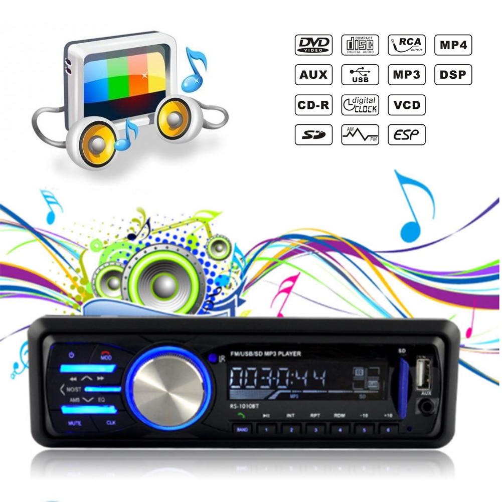 Multimedio 4.1-InchBluetooth Car Mp3 Player Car Audio Host Radio 1010BT Large-Screen FM Transmitter support USB SD card