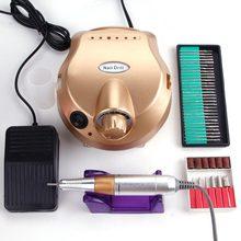 Eléctrico taladro clavo manicura máquina conjunto pedicura cortadores aparatos Kit de la máquina de fresado gel eliminador de esmalte de uñas de arte archivo Bits
