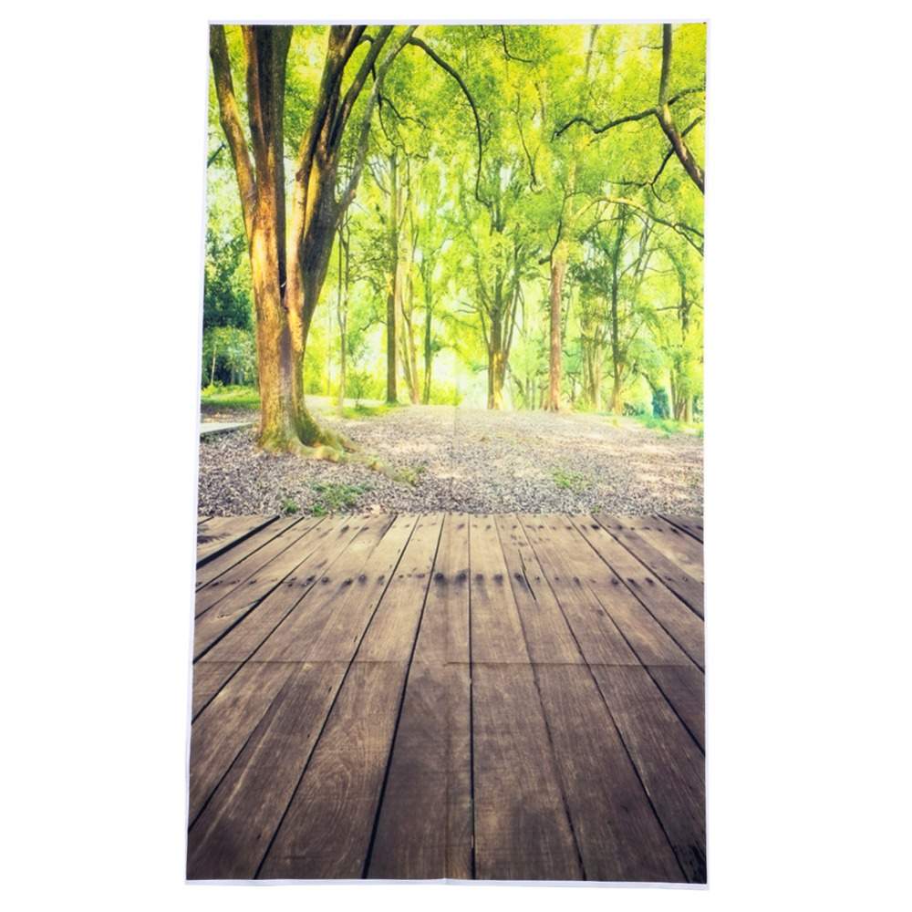 3x5FT Forest Wood Floor Nature Vinyl Photography Background Backdrop Studio Prop 10ft 20ft romantic wedding backdrop f 894 fabric background idea wood floor digital photography backdrop for picture taking