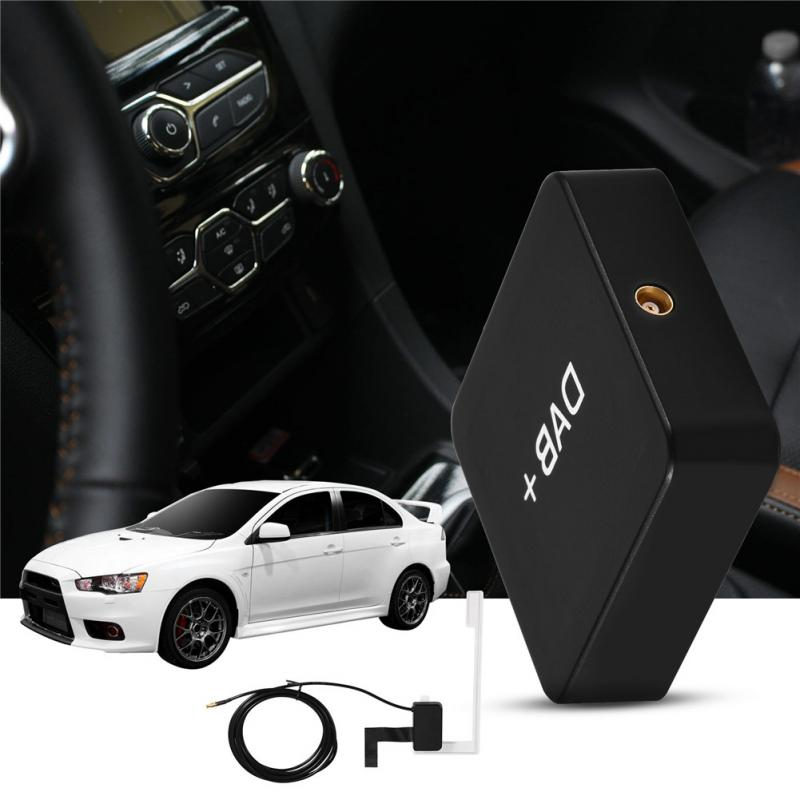Автомобильный комплект цифровой аудио вещания DAB + коробка радио приемник адаптер с телевизионные антенны для Android 2018