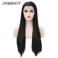 JOY & BEAUTY perruque synthétique pour femmes noires et blanches de 22 à 28 pouces, cheveux en Fiber résistante à la chaleur, sans colle, lisse et soyeuse