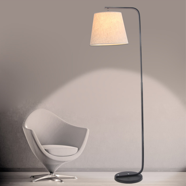 Lamp Stand Designs : Modern simple led floor lamp fabric lampshade ac v