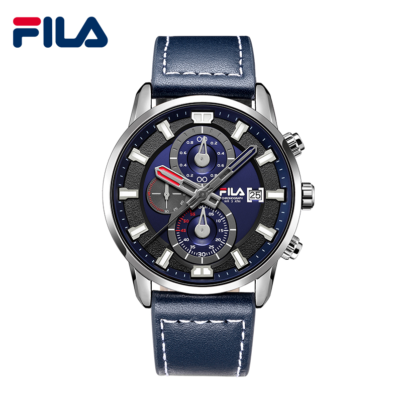 Fila Luxury Brand Men Quartz Analog Leather Sports Watches Men's Army Military Watch Man Quartz Clock Relogio Masculino 628 benyar luxury brand military watch men quartz analog clock leather strap clock mens sports watches army relogio masculino