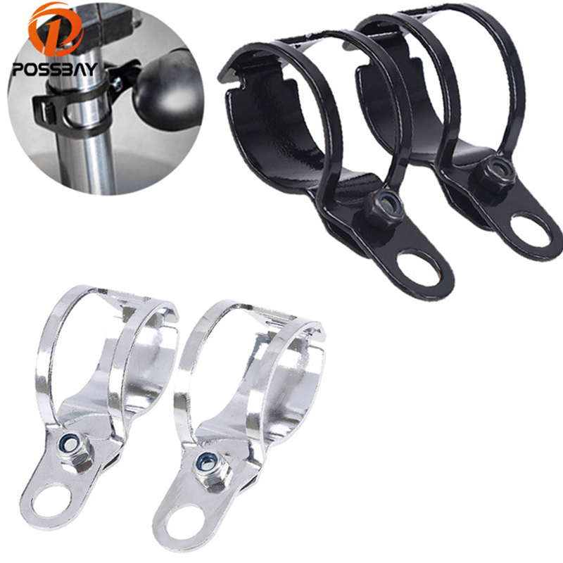 POSSBAY 27-31MM Universal Motorcycle Turn Signals Relocation Clamps Mount Light Holder Lamp Mount Bracket Front Fork Bike