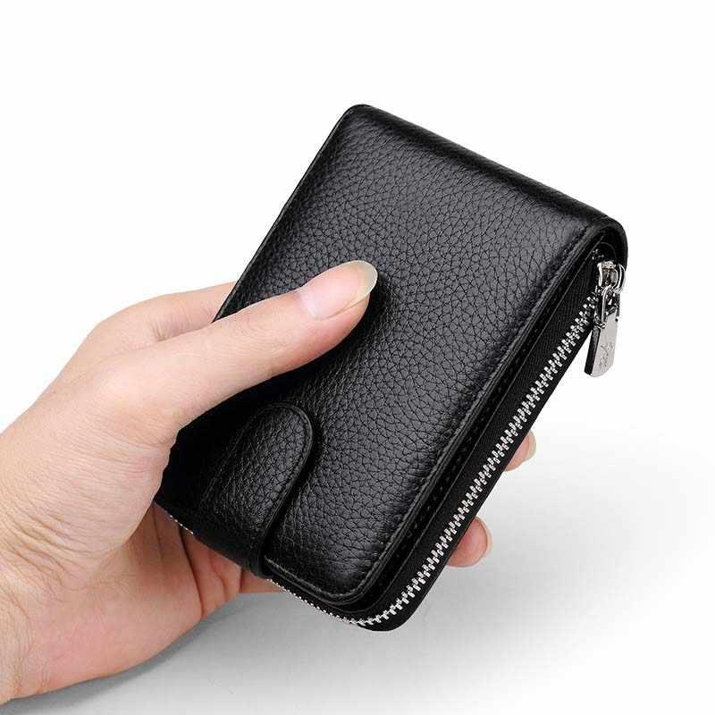 Williampolo Homens Bolsa de Couro Real Marca de Luxo Ocasional Titular do Cartão de Crédito Mini Zipper Hasp Carteira Design Pequeno Vermelho Marrom Do Vintage