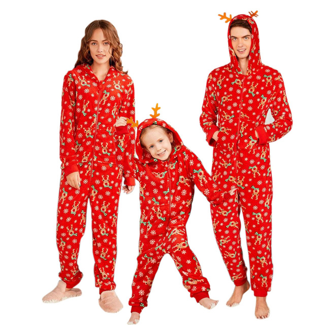 Family Christmas Onesie Pajamas.Us 11 75 Christmas Parent Child Onesie Jumpsuit Xmas Family Family Matching Outfits Long Sleeve Adult Baby Bodysuit In Matching Family Outfits From