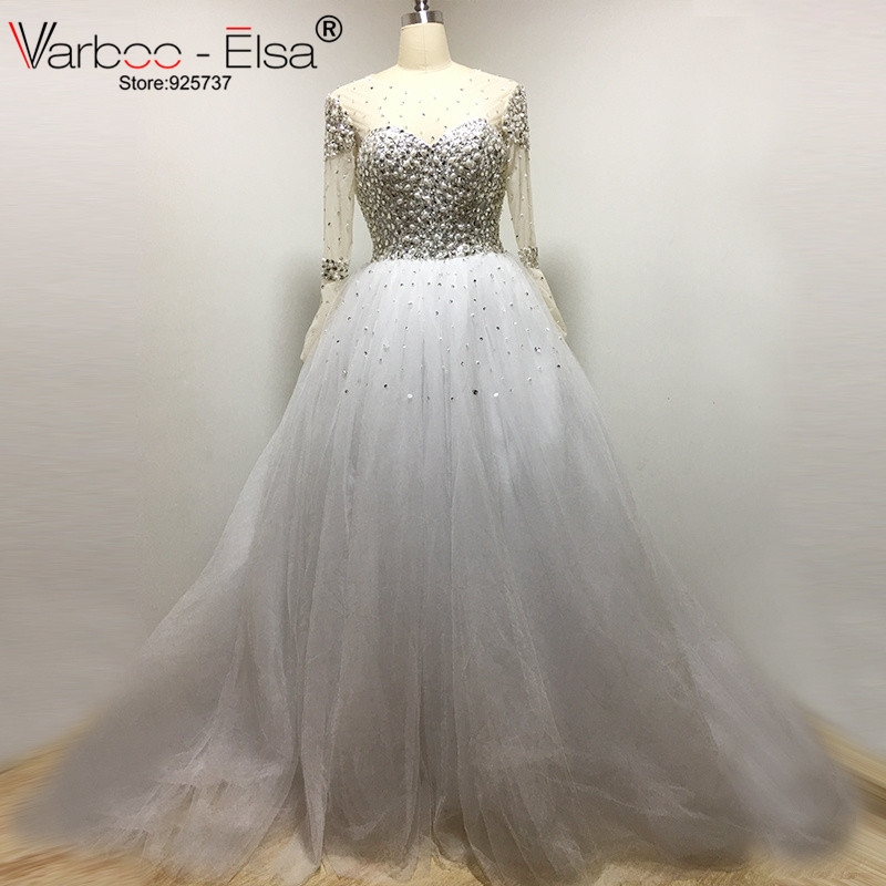 Crystal wedding dresses ball gown wedding dress 2017 for Plus size bling wedding dresses