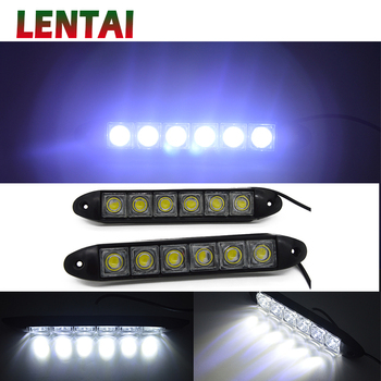 LENTAI For BMW e46 e39 e90 e60 e36 f30 f10 e30 x5 e53 Alfa Romeo 159 147 MG 1Set 6 LED Car Daytime Running Lights DRL Fog Lamp image