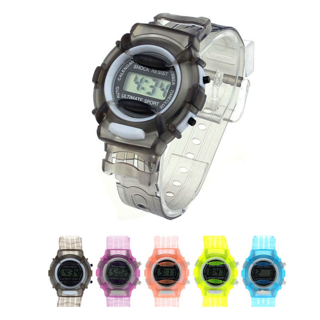 High Quality Digital Watch Boys Girls Children Students Waterproof colorful Digi