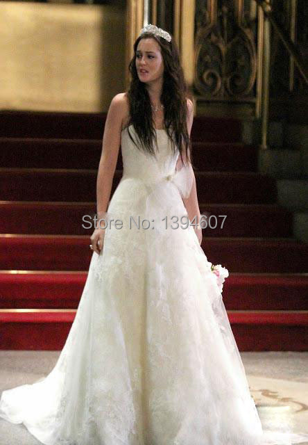 2015 The Best Quality2013 Gossip Girl Blair Wedding Dress Appliques