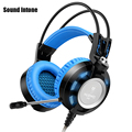 Sound K6 headphones gaming headset with microphone 3.5mm stereo auriculares game earphone glowing LED Light USB for PC Computer