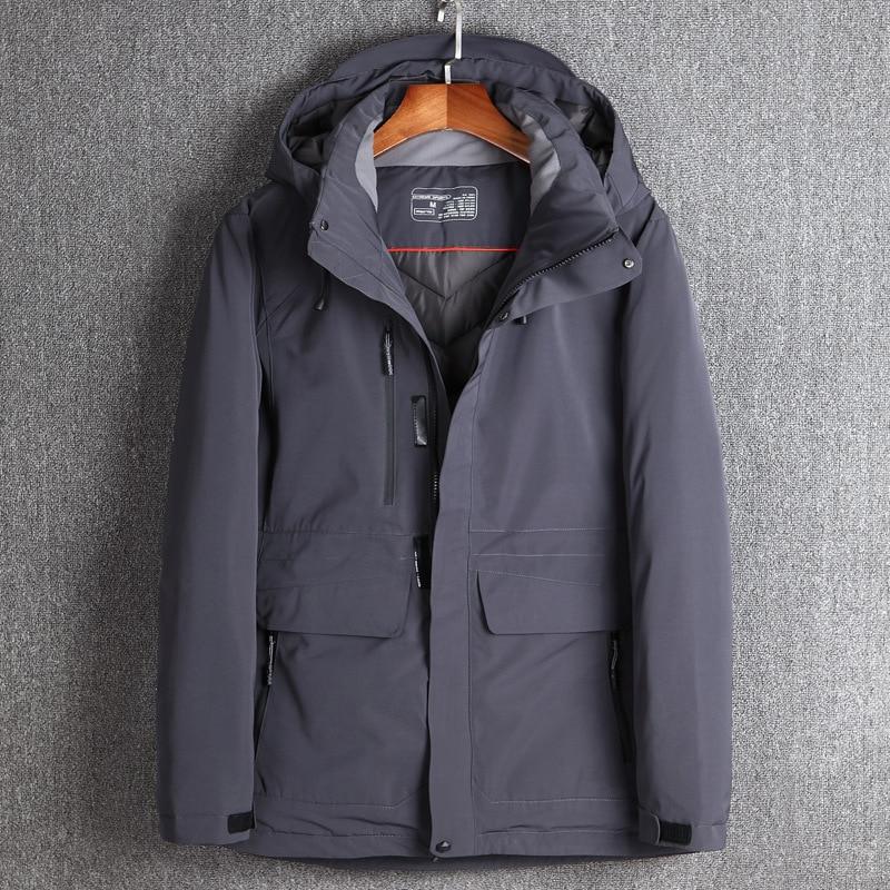 2017 Winter Men's Down Jackets Duck Down Winter Warm Waterproof Long Down Coat Hooded Removable Outerwear Top Quality Jacket winter down top jacke