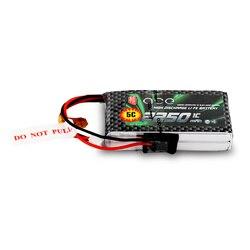 Gens ace 2250mAh 6,6 V 2S 2S1P аккумулятор с разъемом BBL1 Futaba 3P для 14SG 4PLS T8J пульт дистанционного управления